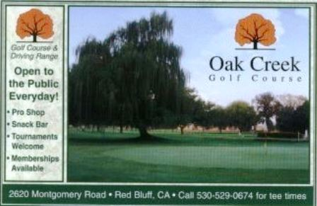 Oak Creek Golf Course,Red Bluff, California,  - Golf Course Photo