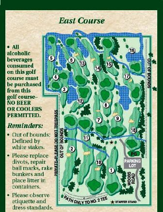 Raisin River Golf Club, The East Course,Monroe, Michigan,  - Golf Course Photo