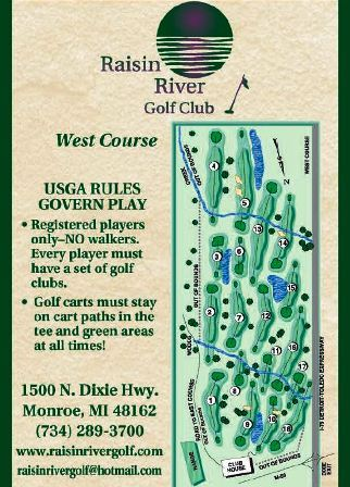 Raisin River Golf Club, The West Course,Monroe, Michigan,  - Golf Course Photo