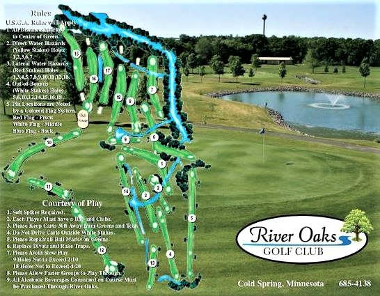 River Oaks Golf Course, Cold Spring, Minnesota, 56320 - Golf Course Photo