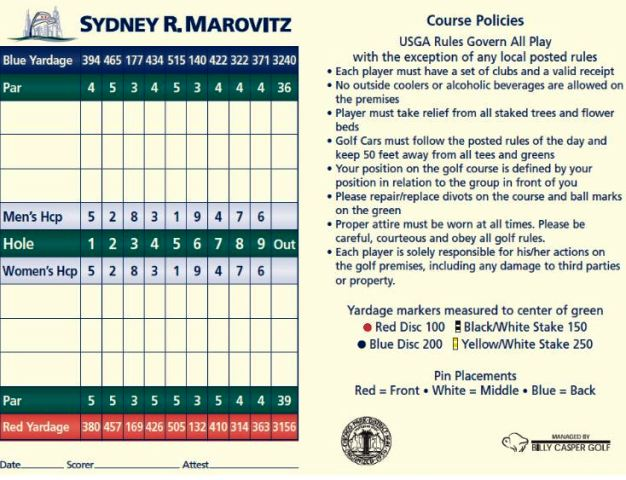 Sydney R. Marovitz Golf Course