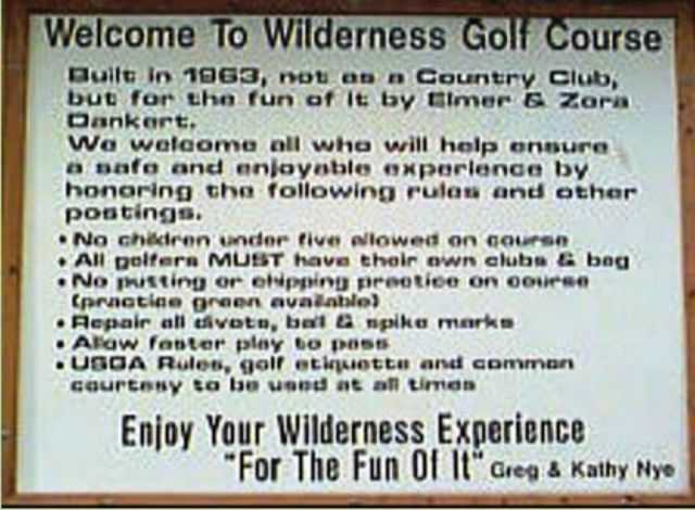 Wilderness Golf Course, CLOSED 2015